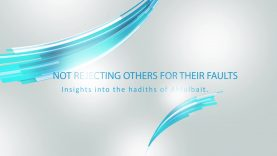 Not rejecting others for their faults